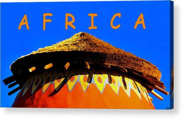 Art Acrylic Print featuring the painting African Dwelling by David Lee Thompson