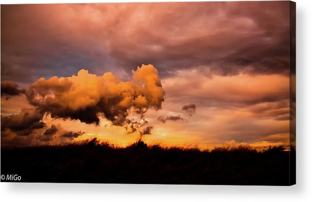Cloud Acrylic Print featuring the photograph Armageddon by Michael Goyberg