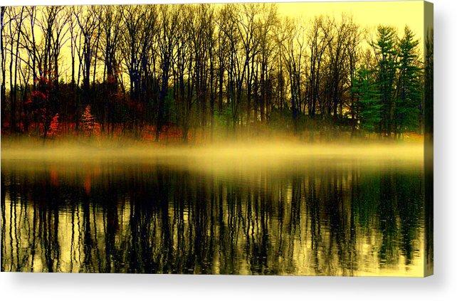 Acrylic Print featuring the digital art Fog At Farrington Lake by Aron Chervin
