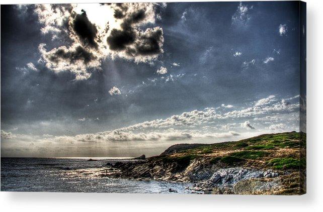 Sardegna Acrylic Print featuring the photograph Inspiring Panorama by Andrea Barbieri
