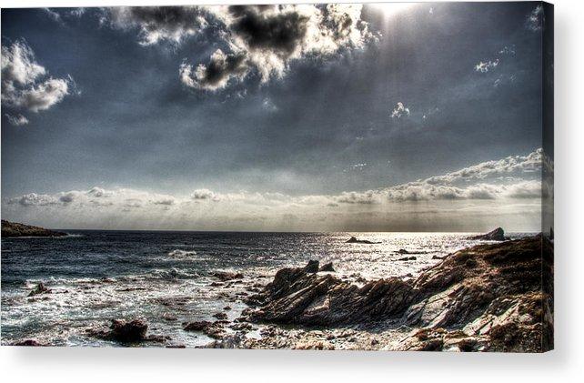 Sardegna Acrylic Print featuring the photograph Rocky Sunset by Andrea Barbieri