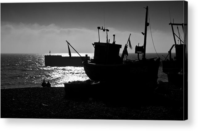 Sea Acrylic Print featuring the photograph Watching And Waiting by Nigel Jones