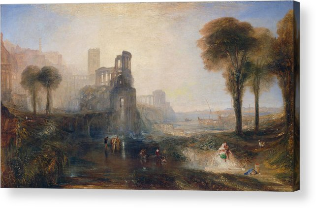 Architectural Acrylic Print featuring the painting Caligula's Palace And Bridge by JMW Turner