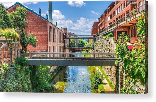 This A Photo Of The Chesapeake And Ohio Canal Acrylic Print featuring the photograph Chesapeake And Ohio Canal by William Rogers