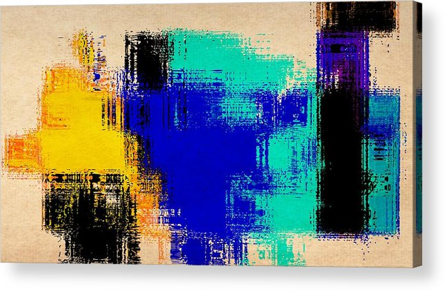Abstract Acrylic Print featuring the painting Abstract For2 by Rene Avalos