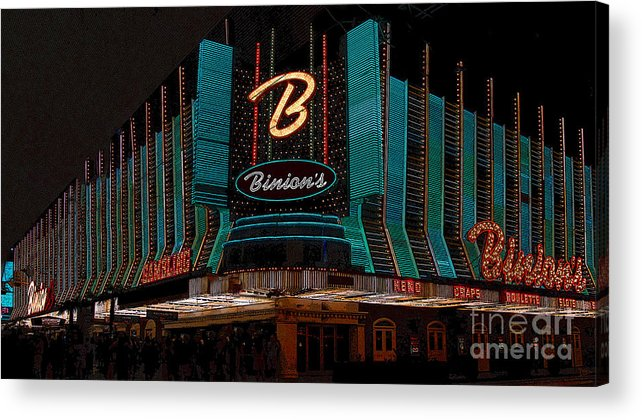 Art Acrylic Print featuring the painting Binions Vegas by David Lee Thompson
