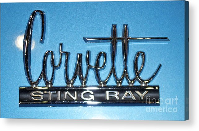 Corvette Acrylic Print featuring the photograph Corvette Sting Ray by Pamela Walrath