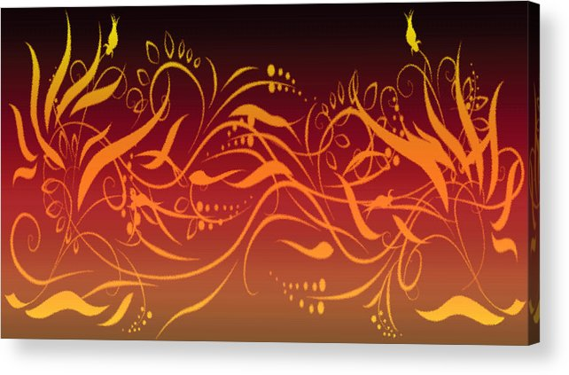 Digital Art Acrylic Print featuring the digital art Eve Style 1 by Evelyn Patrick
