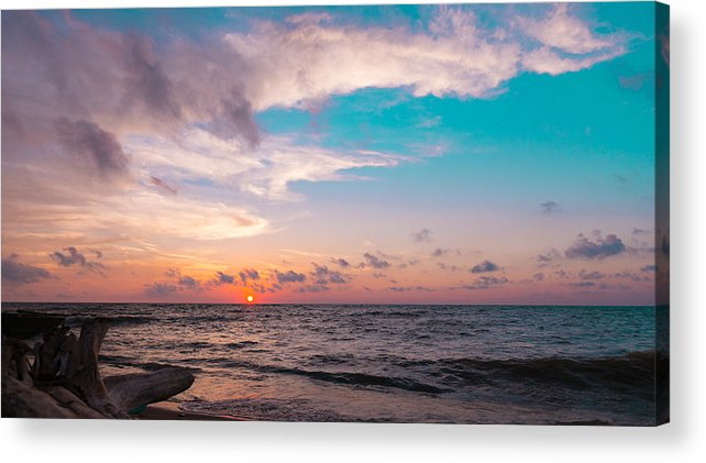 Sunset Acrylic Print featuring the photograph Lake Erie Sunset by Steven R Breininger