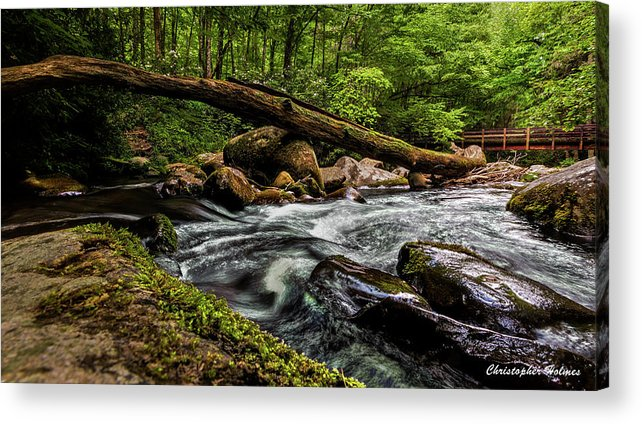 Christopher Holmes Photography Acrylic Print featuring the photograph Mountain Stream Iv by Christopher Holmes