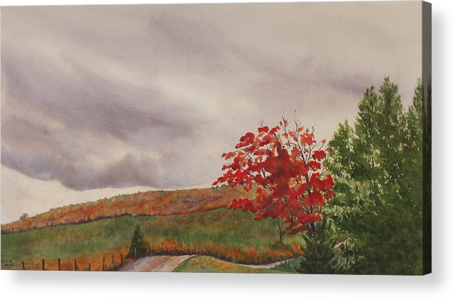 Dark Acrylic Print featuring the painting October Wind by Debbie Homewood