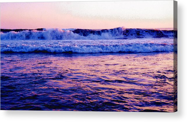 Pacific Ocean Acrylic Print featuring the photograph Pacifac Sunset 23 Wc by Lyle Crump