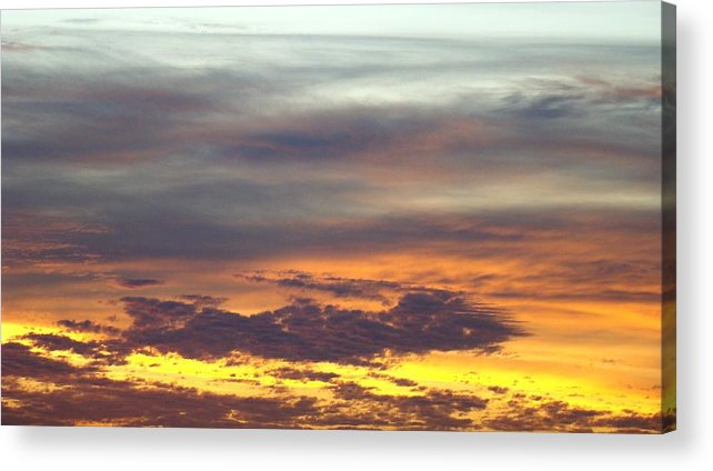 Sunrise Acrylic Print featuring the photograph Painted Sky Two by Ana Villaronga