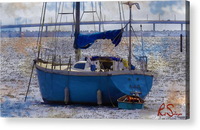 Sailboat Acrylic Print featuring the photograph Sailboat And Dingy by Robert Salazar