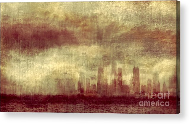 Clouds Acrylic Print featuring the photograph Someone To Hold You Beneath Darkened Sky by Dana DiPasquale