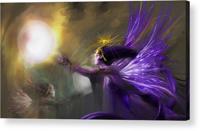 Fairies Acrylic Print featuring the digital art Sphere Makers Of Emergging Consciousness by Stephen Lucas