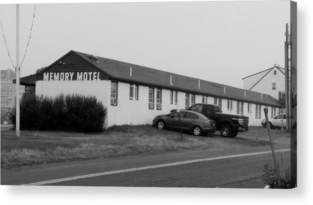 The Rolling Stones Acrylic Print featuring the photograph The Rolling Stones' Memory Motel Montauk New York by Rob Hans