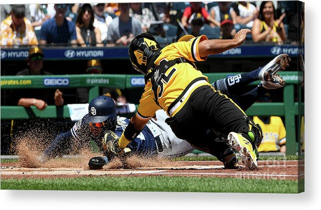 People Acrylic Print featuring the photograph San Diego Padres V Pittsburgh Pirates 3 by Justin Berl