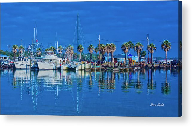 Blue Acrylic Print featuring the photograph Blue Morning by Maria Nesbit