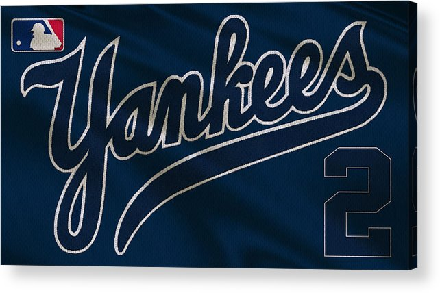 Yankees Acrylic Print featuring the photograph New York Yankees Derek Jeter by Joe Hamilton