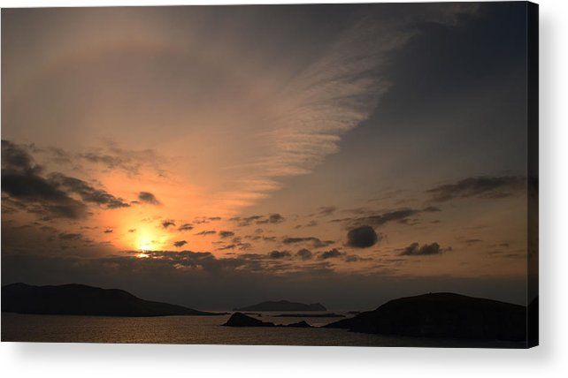 Blasket Islands Acrylic Print featuring the photograph Sunset Blasket Islands by Barbara Walsh