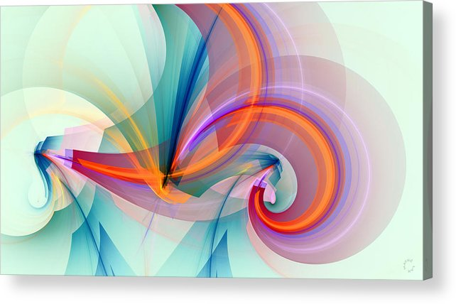 Abstract Art Acrylic Print featuring the digital art 1260 by Lar Matre