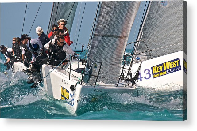 Skiff Acrylic Print featuring the photograph Key West Race Week by Steven Lapkin