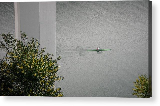 Rower Acrylic Print featuring the photograph Rower On Douro by Ari Salmela