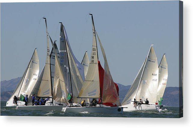 300 Acrylic Print featuring the photograph Mark Rounding by Steven Lapkin