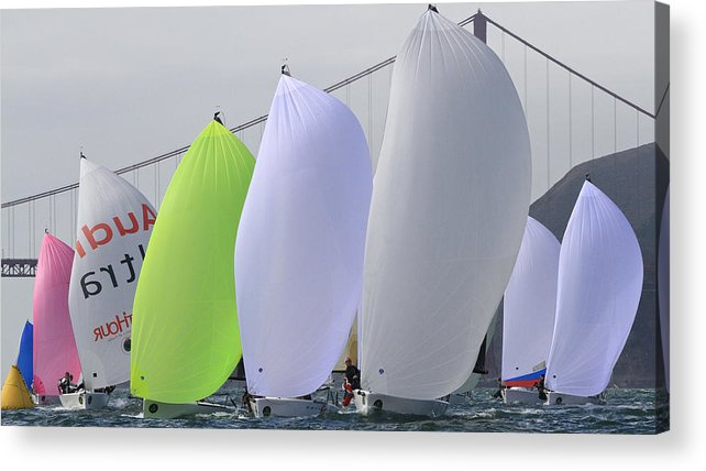 300 Acrylic Print featuring the photograph Bay Colors by Steven Lapkin