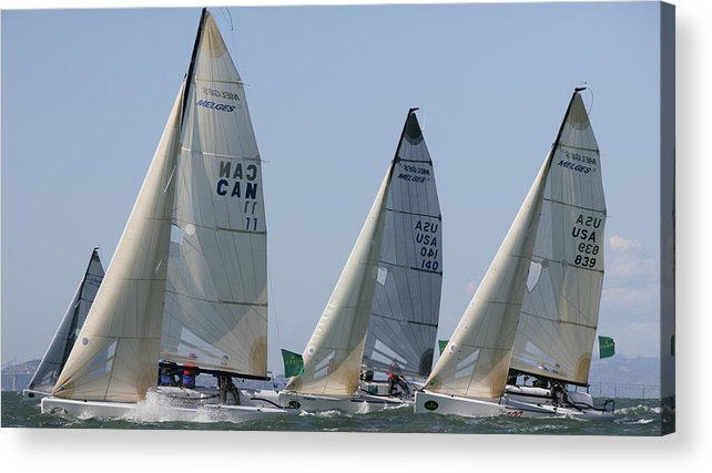 300 Acrylic Print featuring the photograph Bay Action by Steven Lapkin