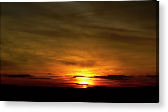 Sunset Acrylic Print featuring the photograph 674. by Pavel Jankasek