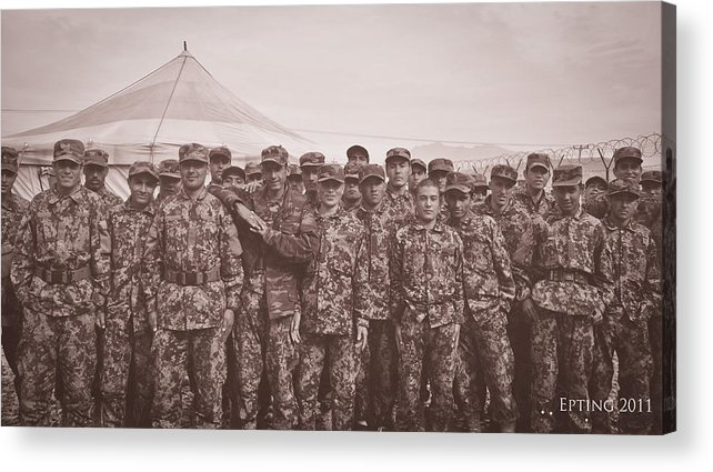 Military Acrylic Print featuring the photograph ANA by Jesse Epting