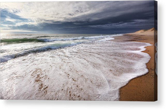 Beach Acrylic Print featuring the photograph Beach Morning by Bill Wakeley