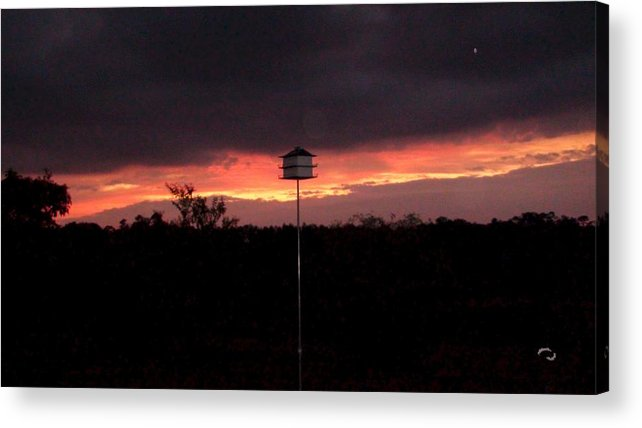 Sunset Acrylic Print featuring the photograph Birdhouse Sunset by Robert Norcia
