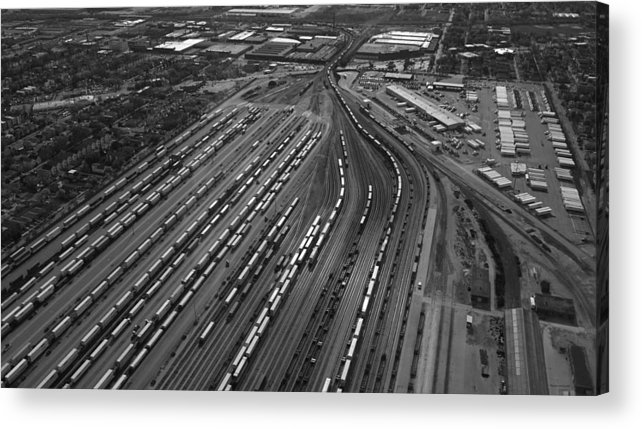 Il Acrylic Print featuring the photograph Chicago Transportation 02 Black And White by Thomas Woolworth