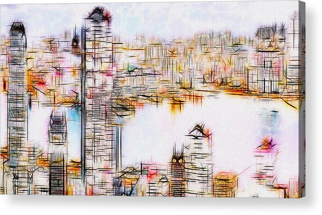 City Acrylic Print featuring the painting City By The Bay by Jack Zulli