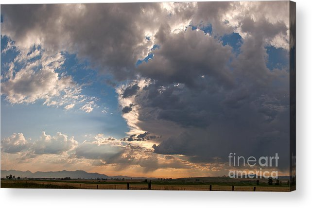 Daybreak Acrylic Print featuring the photograph Daybreak Panorama by Charles Kozierok