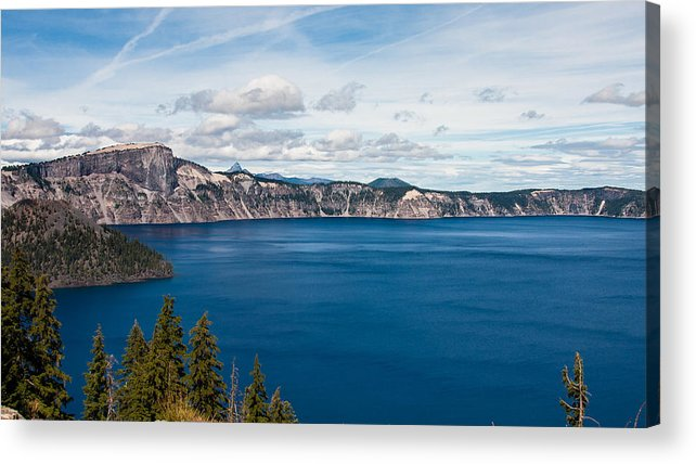 Crater Acrylic Print featuring the photograph Deep Blue Crater Lake by Steve Pfaffle
