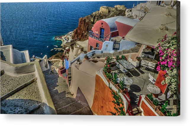 Mediterranean Acrylic Print featuring the photograph Down To The Beach by Capt Gerry Hare