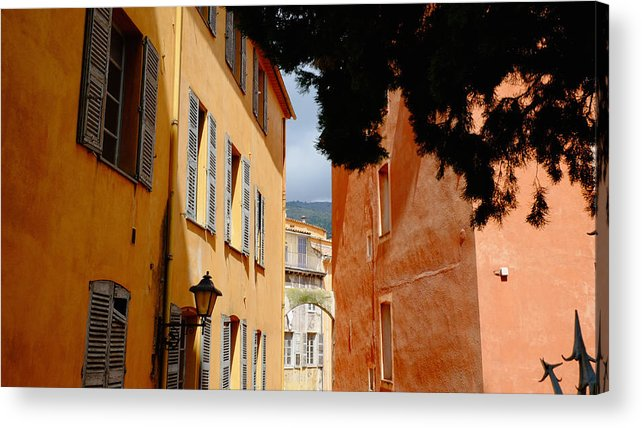 Alley Acrylic Print featuring the photograph Grasse Alley France by August Timmermans