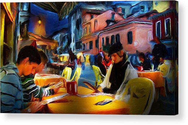 Italy Acrylic Print featuring the digital art Impressions Of Italy by Cary Shapiro