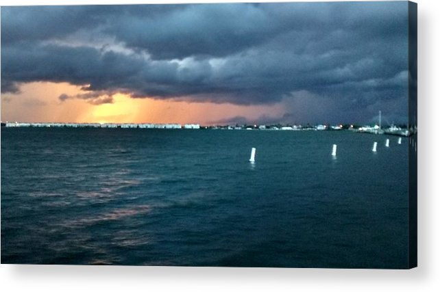 Indiana River Lagoon Acrylic Print featuring the photograph Indian River Lagoon Florida Storm by Zech Browning