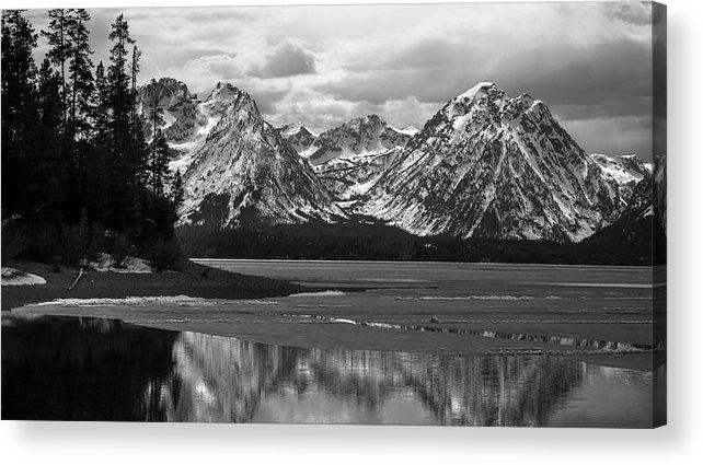 Jackson Lake Acrylic Print featuring the photograph Jackson Lake Grand Teton National Park by RiverNorth Photography