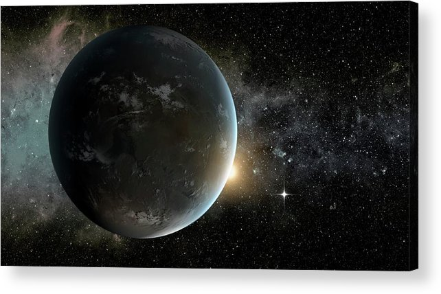 Nobody Acrylic Print featuring the photograph Kepler-62f by Nasa/ames/jpl-caltech