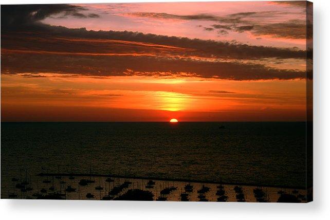 Lake Acrylic Print featuring the photograph Lake Michigan Sunrise by Brian Amick