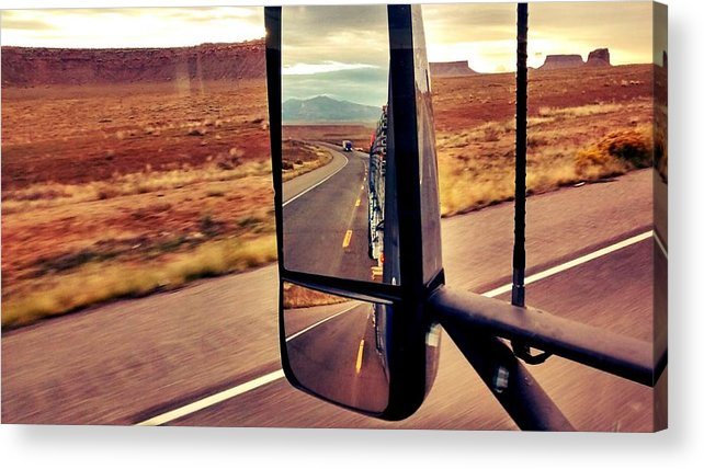 Transportation Acrylic Print featuring the photograph Life In My Rearview Mirror by Bill Hamilton