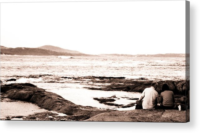 Sepia Acrylic Print featuring the photograph Moment In Time by Carmen Ann Photography