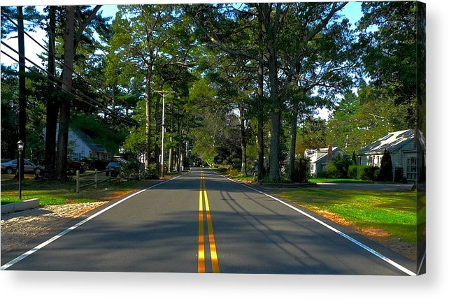 New England Acrylic Print featuring the photograph Yellow Ribbon by Dwight Pinkley