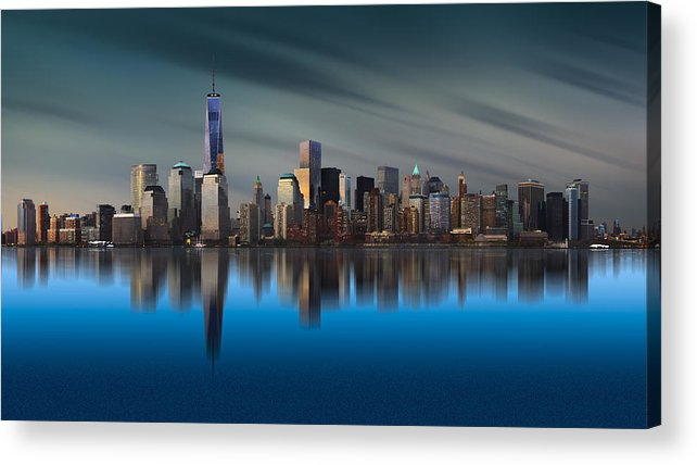 Architecture Acrylic Print featuring the photograph New York World Trade Center 1 by Yi Liang